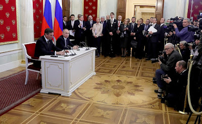 Putin, Borut Pahor.