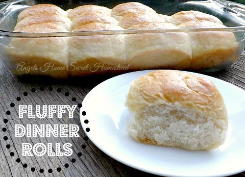 Home Sweet Homestead: Fluffy Dinner Rolls