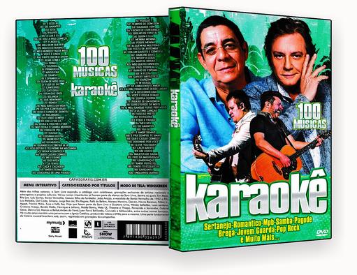CAPA DVD – karaoke 100 Musicas Verde – ISO