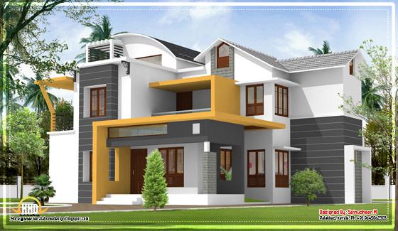 Modern contemporary Kerala home design - 2270 Sq.Ft. - April 2012