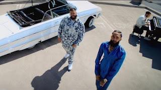 "DJ Khaled Crew Nipsey Hussle and John Legend On ""Higher"" Video"