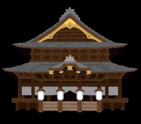 善光寺のイラスト
