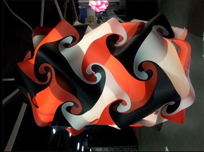 modern puzzle lamp, puzzle decor