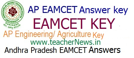 AP EAMCET Answer Key 2018 - Download AP Engineering/ Agriculture Official Key 2018