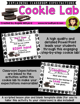 Cookie Lab to Explain Classroom Expectations: An interactive back-to-school activity to explain classroom expectations during the first few days of school!