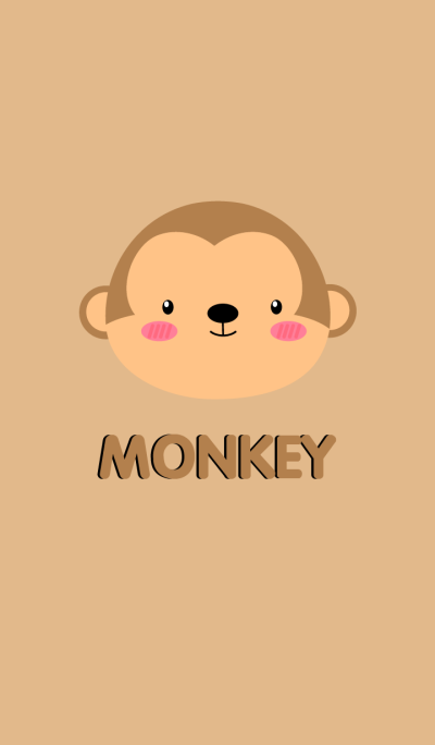 Simple Cute Face Monkey Theme