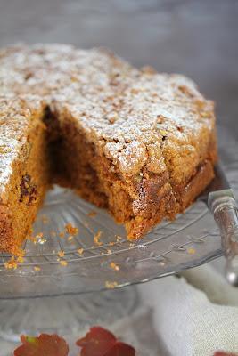 cake à la citrouille , au potiron , raisins , gouter