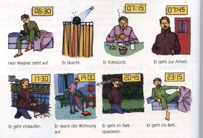 el aleman no es dificil vocabulario verbos de rutinas diarias tagesablauf verben. Black Bedroom Furniture Sets. Home Design Ideas