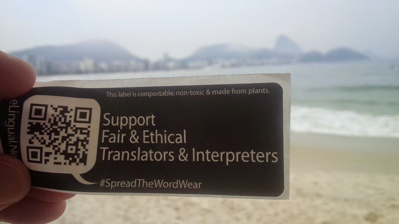 Copacabana Beach in Rio, Brazil, supports fair and ethical translators and interpreters
