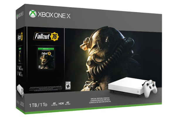 Microsoft releases Xbox One X Robot White Special Edition Fallout 76 Bundle and Xbox Elite Wireless Controller - White Special Edition