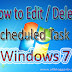How To Edit / Delete Scheduled Task in Windows Computer