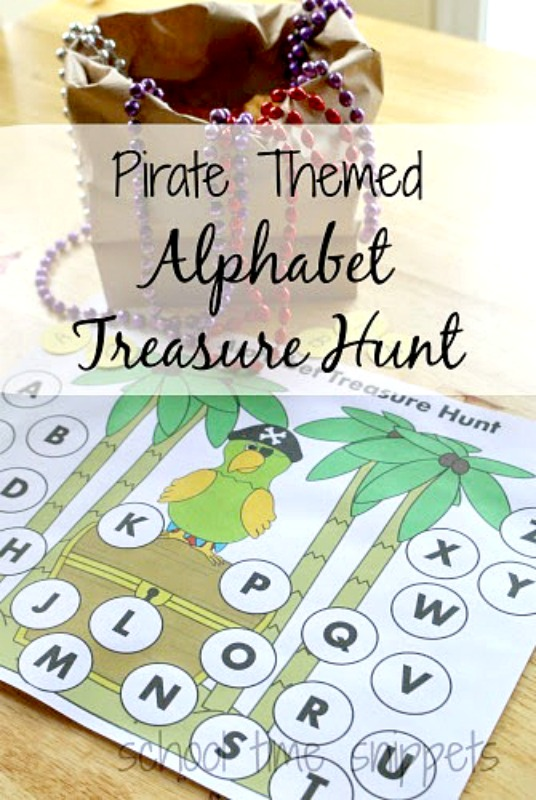 alphabet treasure hunt printable