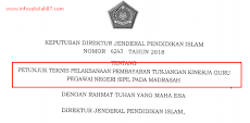 Juknis Tunjangan Kinerja (TUKIN) Guru PNS Pada Madrasah