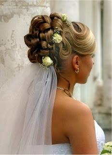 fashion beach wedding hairstyles with veil