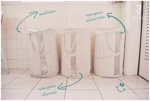 organização da lavanderia