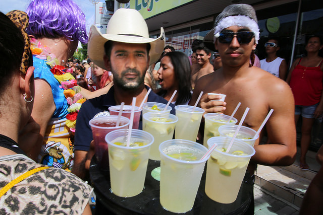 Bar au Brésil : bar de rue carnaval