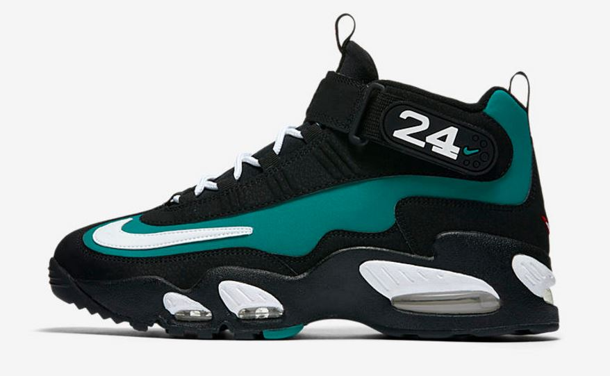 49842b99ede48 Here is a look at the Nike Air Griffey Max 1  Freshwater  Sneaker available  at 10am EST HERE at Champs Sports. These are very close to the Originals  with ...