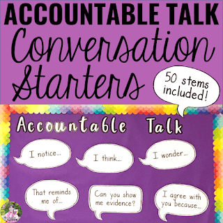 Image of Accountable Talk Conversation Starters resource.