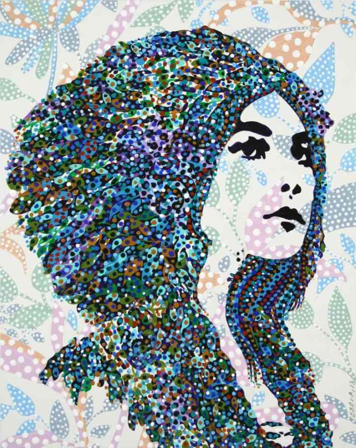 Завеса цветовых пятен. Erika Pochybova