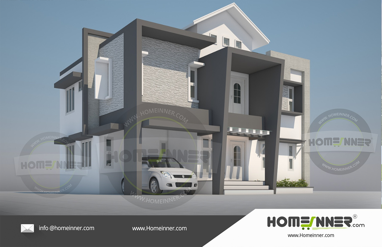 Upcoming Homeinner 2000 sq ft 4 Bedroom Villa concept