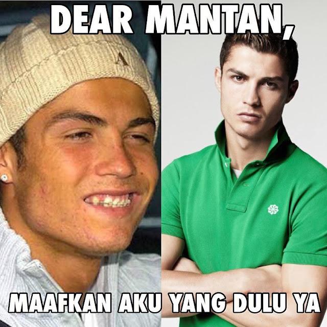 Meme Dear Mantan ronaldo