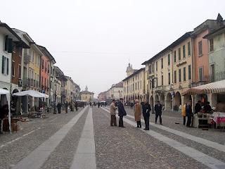 The Piazza Vittorio Emanuele II in Orzinuovi