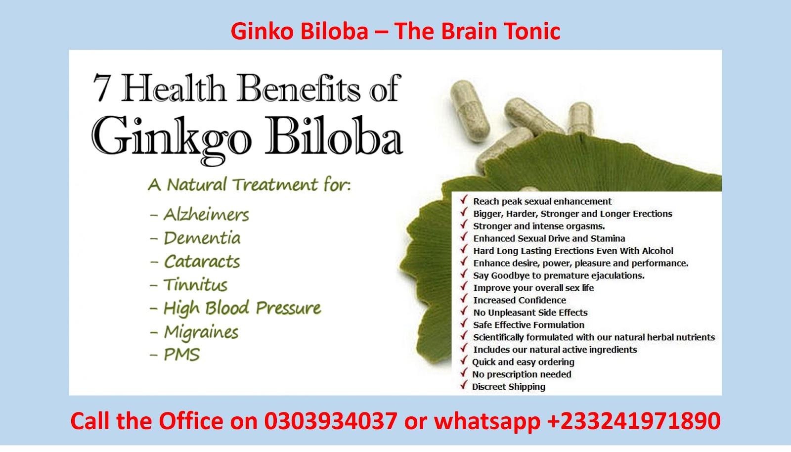 Ginkgo biloba benefits sexual