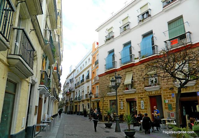La Viña, antigo bairro de pescadores de Cadiz