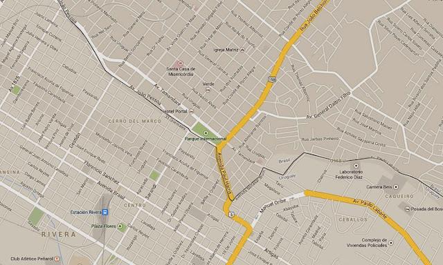 Mapa de Santana do Livramento - RS