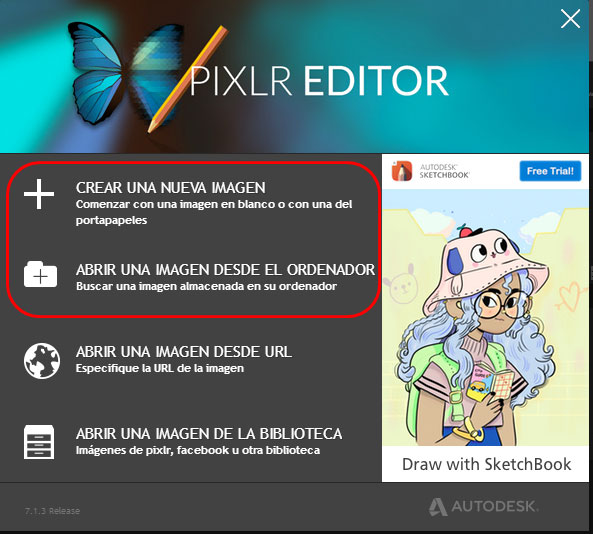 programa de pixlr editor