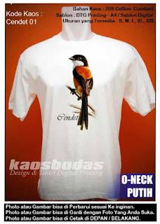 Kaos Burung Cendet 01