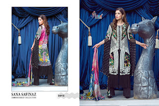 Sana Safinaz Embroidered Georgette Collection 2018