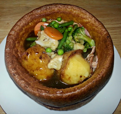 Roast dinner inside yorkshire pudding