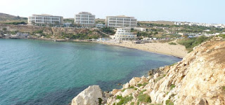 Golden Bay, Malta.
