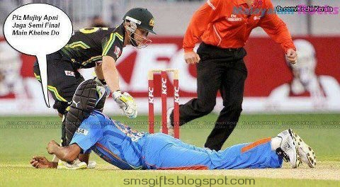 Indian Cricket Team Funny Pictures after Elimination in ...