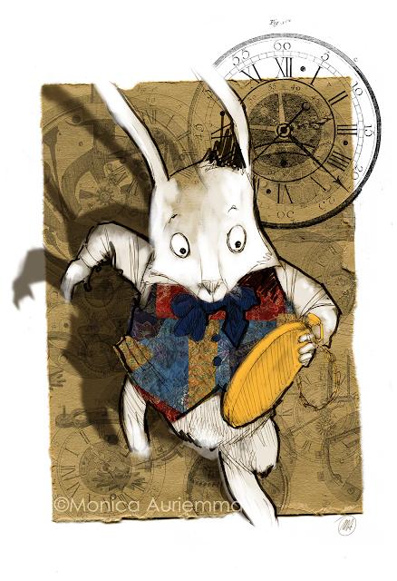 white-rabbit-coniglio-bianco-orologio-clock-