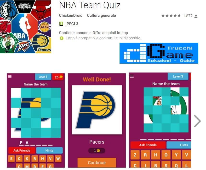 Soluzioni NBA Team Quiz
