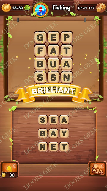 Word Bright Level 167 Answers, Cheats, Solutions, Walkthrough for android, iphone, ipad and ipod