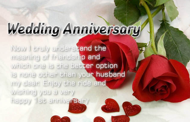 Beautiful wedding anniversary