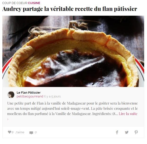Le flan p tissier petit bec gourmand - Ma petite cuisine by audrey ...