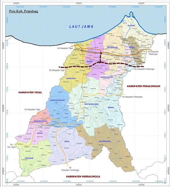 Peta Kabupaten Pemalang