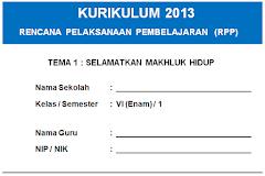 RPP Kelas 6 SD/MI Kurikulum 2013 Semua Tema Dan Sub Tema Edisi Baru