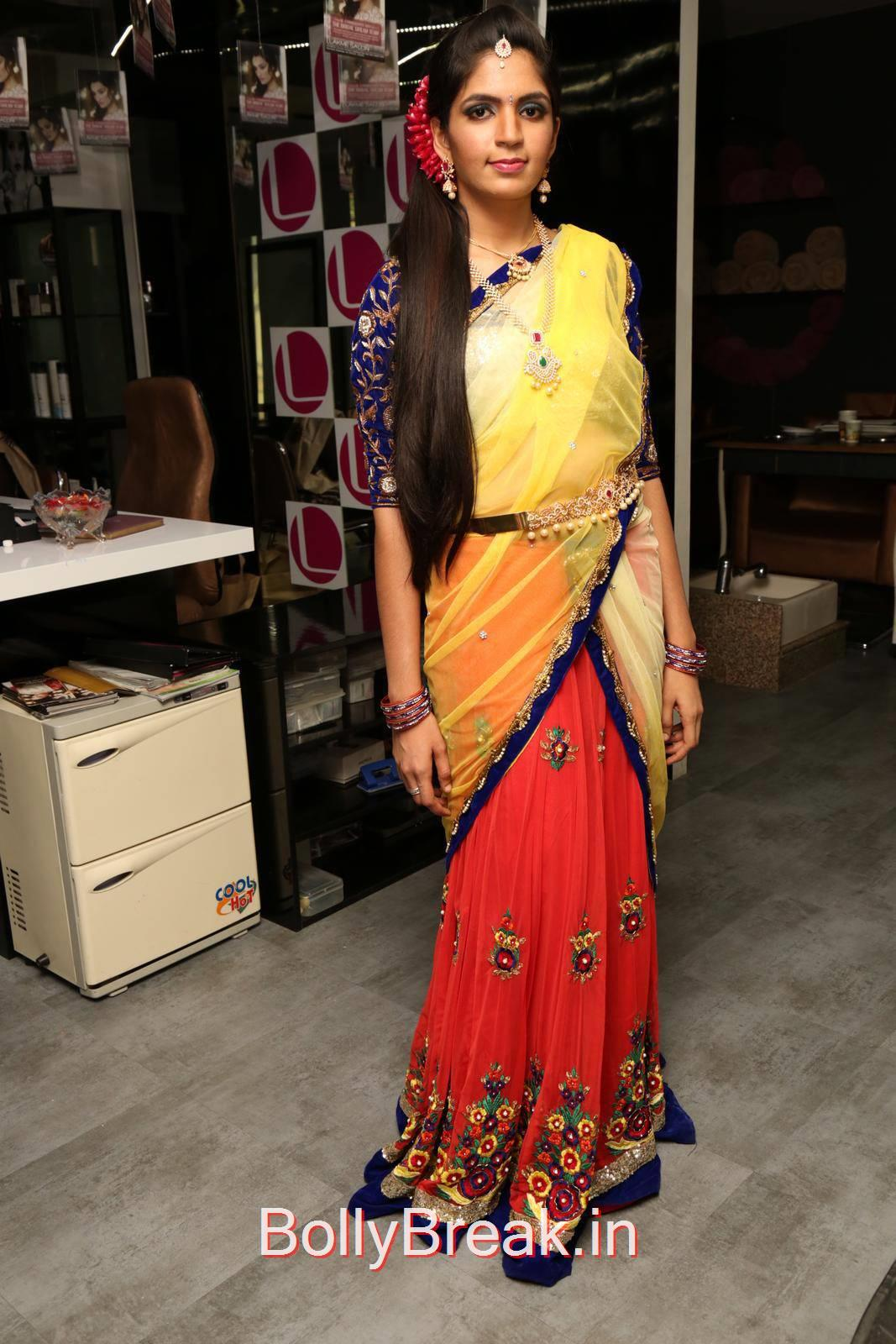 Anusha Unseen Stills, Anusha Hot Pics from Bridal Dream Make up At Lakme Salon