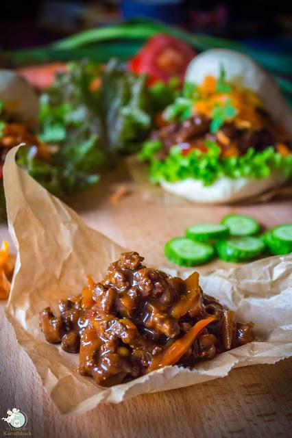 Hackfleisch mit Karotte und Zwiebel