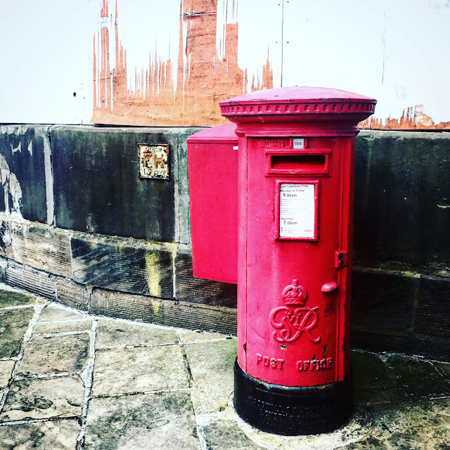 Old postbox wakefield