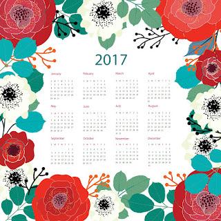 2017カレンダー無料テンプレート178