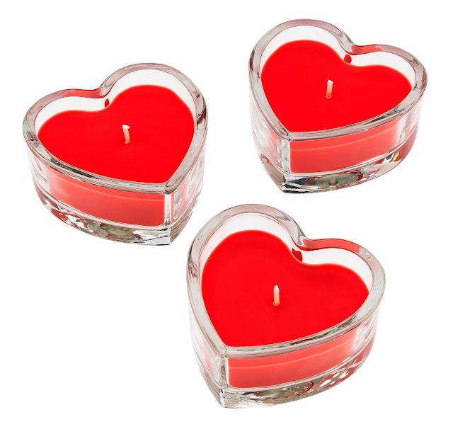 Mini heart shaped tea lights