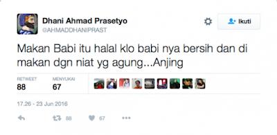 Ahmad Dhani Bilang Babi Halal