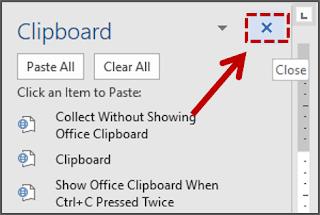 Menutup Clipboard