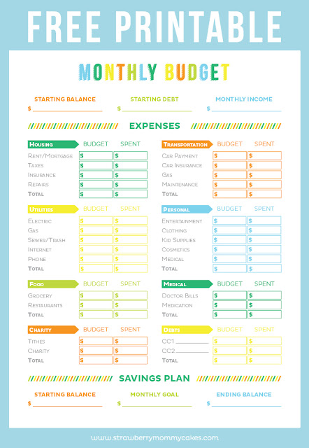 Free budget planner printable